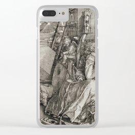 Albrecht Durer - Melancholia Clear iPhone Case