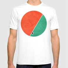 Home White MEDIUM Mens Fitted Tee