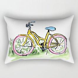 Pastel Primary Bicycle Rectangular Pillow