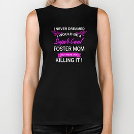 Super Cool Foster Mom Hot Pink Biker Tank