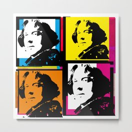 OSCAR WILDE (4-UP POP ART COLLAGE) Metal Print