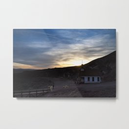 Meanwhile out west. Metal Print