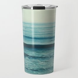 beach waves. Somewhere Travel Mug