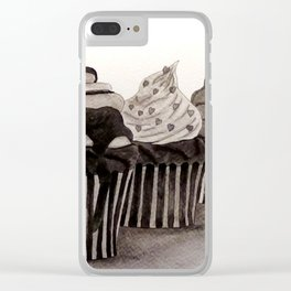 Cupcakes Clear iPhone Case