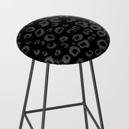 Black and Gray Leopard Bar Stool