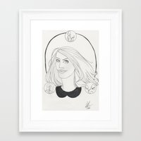 lydia martin Framed Art Prints featuring Lydia by Wolfhearted
