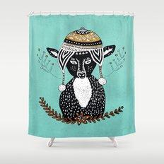 Hipster Deer Shower Curtain
