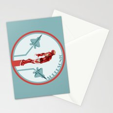 iron man and F22 raptor  Stationery Cards
