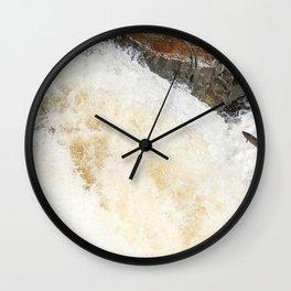 Leaping Atlantic salmon salmo salar Wall Clock