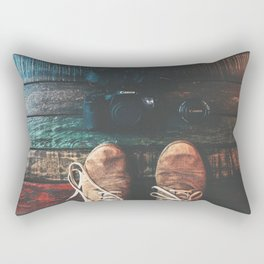 SHOES - CANON - CAMERA - PHOTOGRAPHY Rectangular Pillow