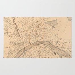 Vintage Map of Haverhill MA (1909) Rug