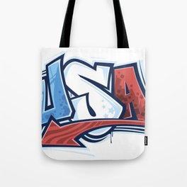 USA in Graffiti Tote Bag
