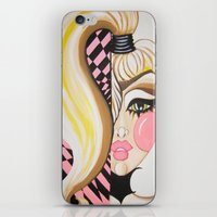 blondie iPhone & iPod Skins featuring Blondie by Artist Fran Doll