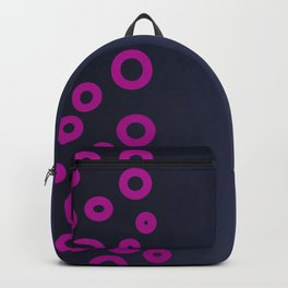 Pink ethno dots on blue deep Backpack
