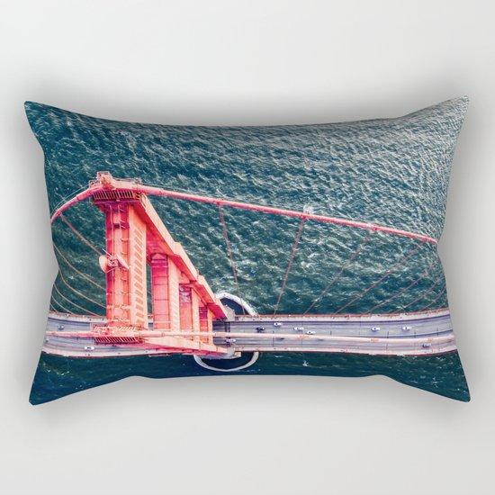 Red Bridge Rectangular Pillow