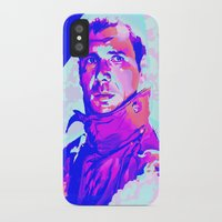 blade runner iPhone & iPod Cases featuring RICK DECKARD // BLADE RUNNER by mergedvisible