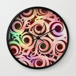 Softly Colored Swirls Wall Clock