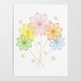 Blooming Flowers Poster