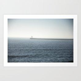 Fog on the beach Art Print