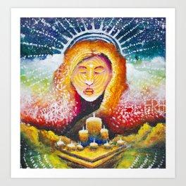 Primal Priestess Art Print