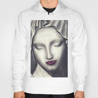 madonna Hoodies featuring Michelangelo Madonna  by augusta marya