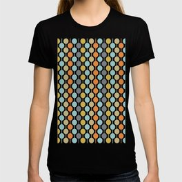 Retro Circles Mid Century Modern Background T-shirt