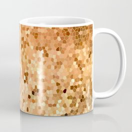 Golden Flames Stained Glass Abstract Coffee Mug