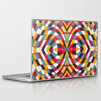 stained glass Laptop & iPad Skins featuring Stained Glass by Danny Ivan