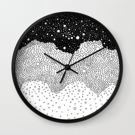 Space/ BW Wall Clock