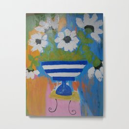 """Flowers...in the style of Matisse"" Metal Print"