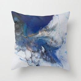 Abstract blue marble Deko-Kissen