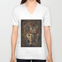 labyrinth V-neck T-shirts featuring Labyrinth by Hikaru Miyakawa