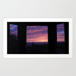 NOVEMBER SUNSET SC Art Print