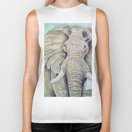 African Elephant Biker Tank