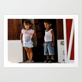 Children of Costa Rica Art Print