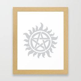 Anti possession seal grey  Framed Art Print