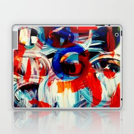 Abstract Action American Painting Laptop & iPad Skin