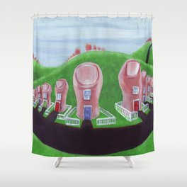 Toe Town Shower Curtain