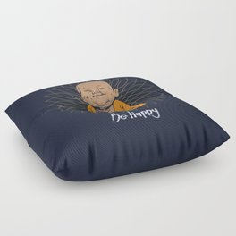 Be Happy Little Buddha Floor Pillow