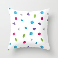 confetti Throw Pillows featuring Confetti by Eric Zelinski