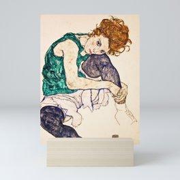 Egon Schiele - Seated Woman With Legs Drawn Up Mini Art Print