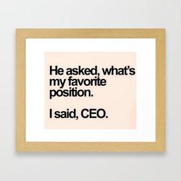 CEO Framed Art Print