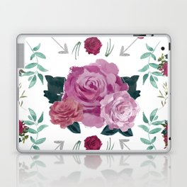 Floral Pattern with Arrows Laptop & iPad Skin