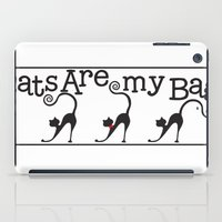 tote bag iPad Cases featuring Cats are my Bag by Spiral Envy