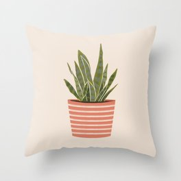 Plant Baby Throw Pillow