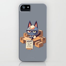 Cat in Boxes iPhone Case