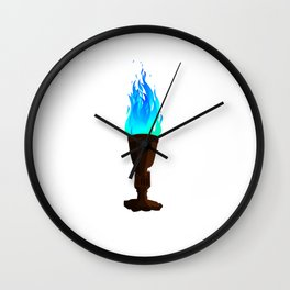 Real Goblet of Fire Wall Clock
