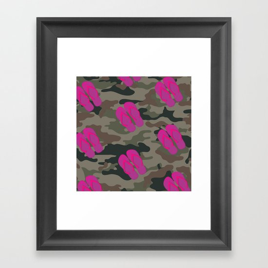 I saw Cady Heron wearing army pants and flip flops ... - quote from Mean Girls Framed Art Print