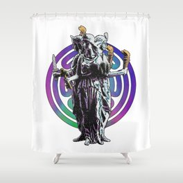 Hecate - Stained Glass Shower Curtain