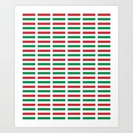 flag of hungary  2 -hungary, hungarian, magyar,Magyarország, hungria,Budapest Art Print
